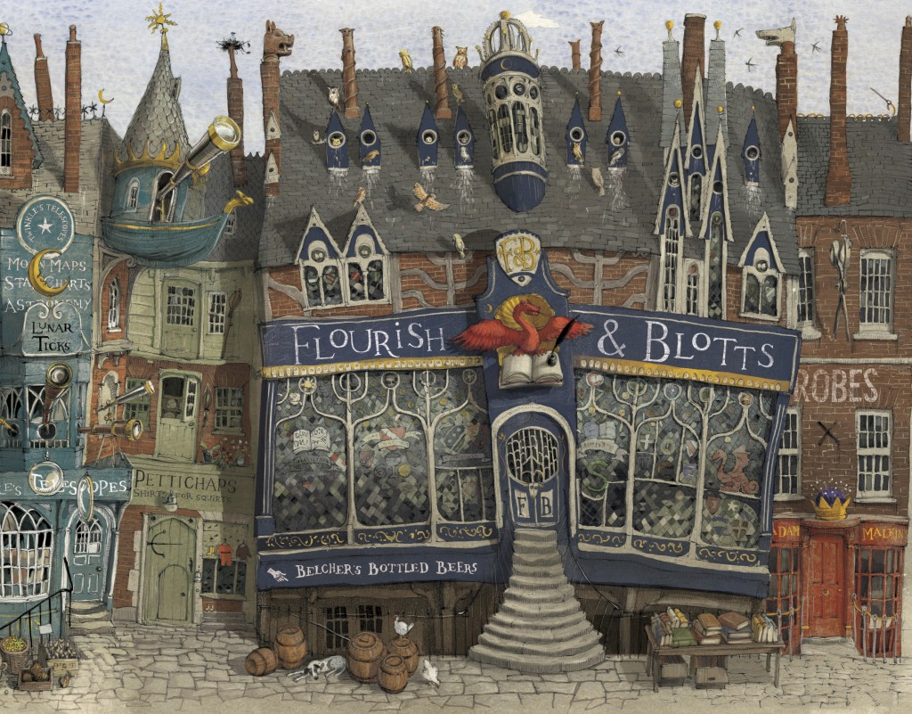 Detail of Diagon Alley, from the Philosopher's Stone