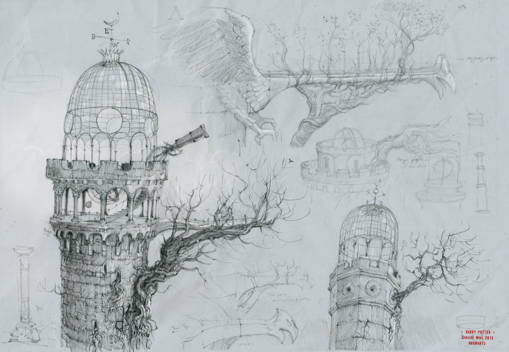 Harry Potter early concept work, I have tons of this stuff, which will probably never get seen.