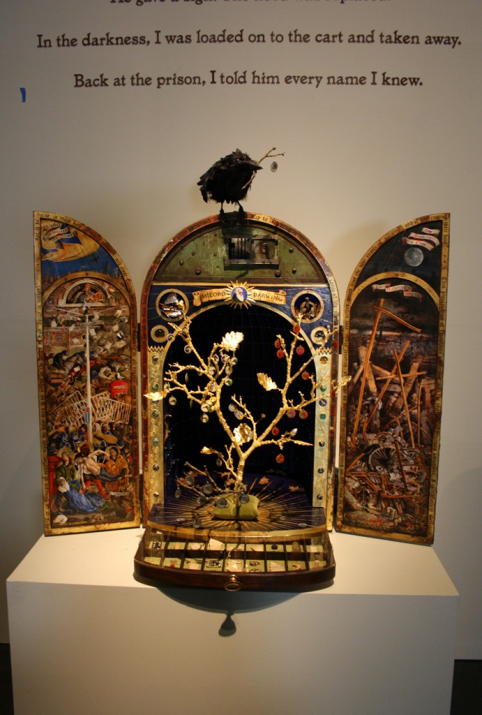 The 'Darwing Reliquary' (yes Darwing, not Darwin), built with the help of Marco Nisbet for the 'Memory Palace' exhibition
