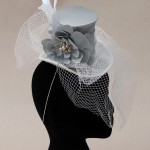 Pale Blue Mini Top Hat