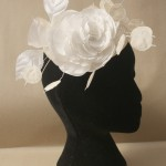 Straw Hat with Handmade Silk Honesty Sprig